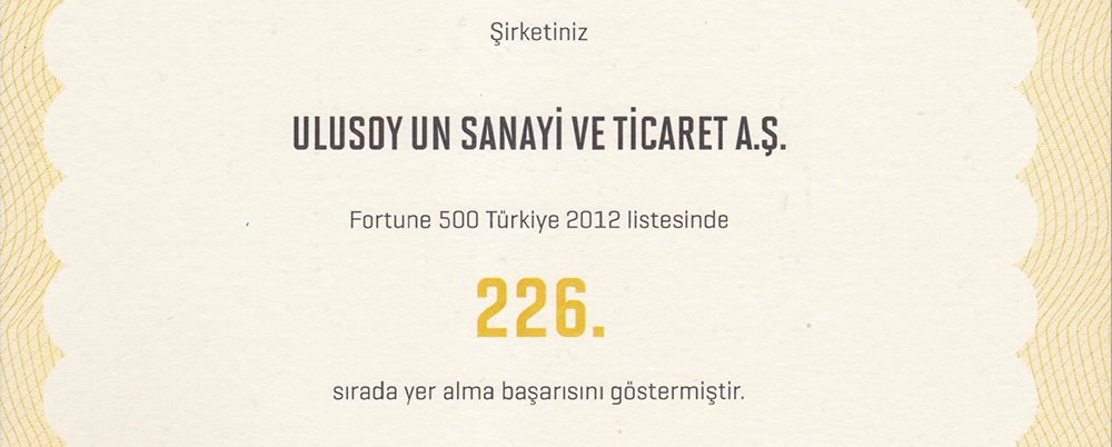 Fortune 500 Turkey 2012